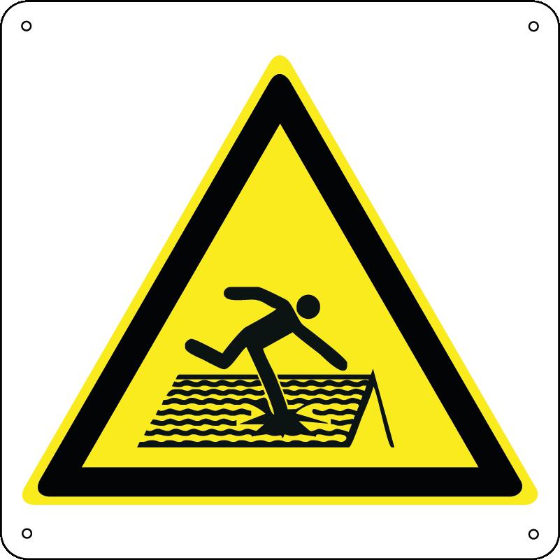 Pericolo tetto fragile quadrato