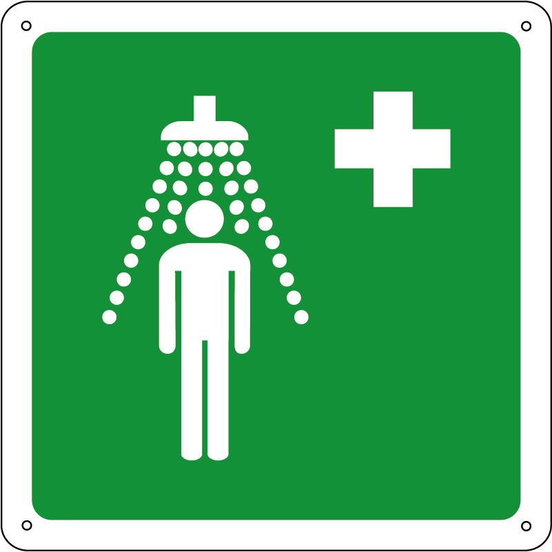 Doccia di emergenza quadrato