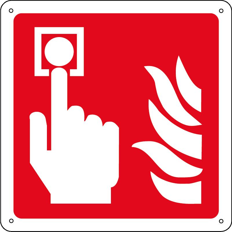 Allarme incendio quadrato