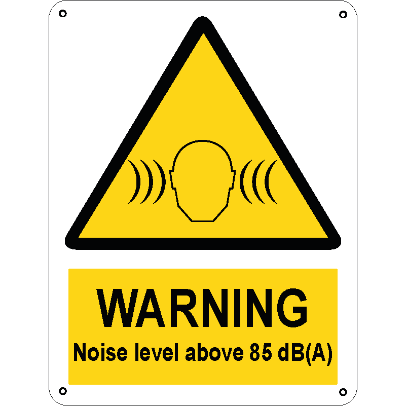 Warning Noise level above 85 dB(A)