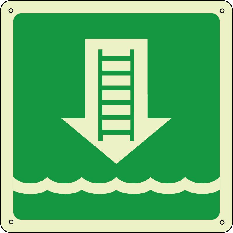 Scala biscaglina - Embarkation ladder quadrato luminescente
