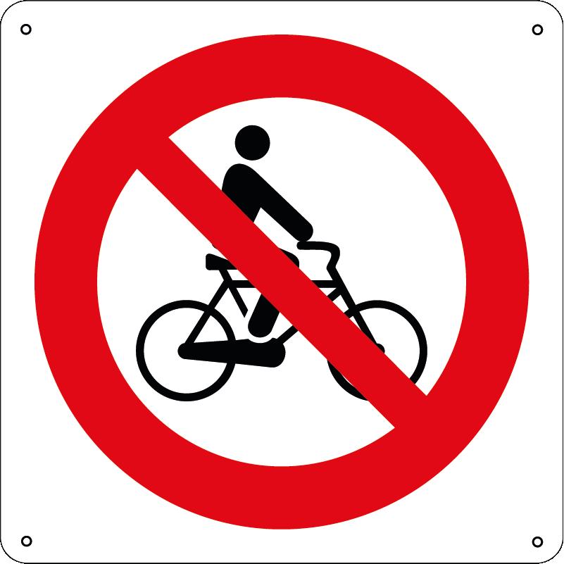 Vietato alle biciclette quadrato