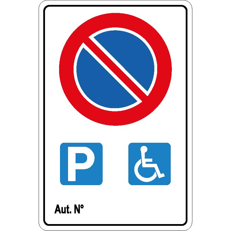 Divieto di Sosta - Parcheggio Riservato Disabile con Autorizzazione