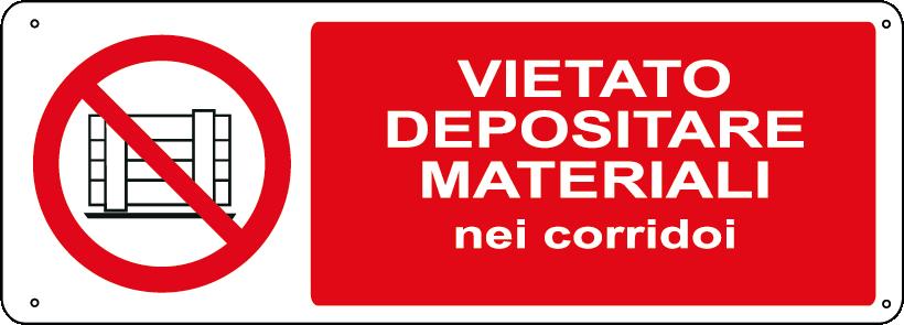 Vietato depositare materiali nei corridoi orizzontale