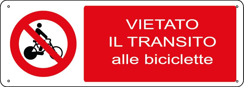 Vietato il transito alle biciclette orizzontale