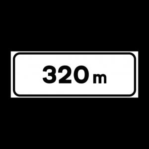 00000001a - Pannello integrativo - Distanza metri - Figura 1a