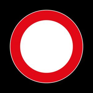 00000046 - Segnale di divieto generico - Divieto di transito - Figura 46