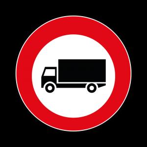 00000060a - Segnale di divieto specifico - Divieto di transito ai veicoli che trasportano merci con massa complessiva superiore a 3,5 tonnellate - Figura 60a