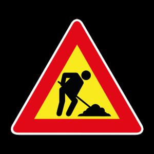 00000383 - Segnale di pericolo temporaneo - Lavori - Figura 383