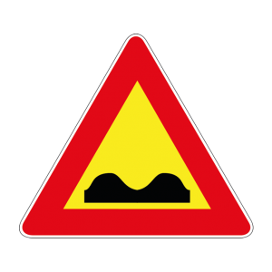 00000389 - Segnale di pericolo temporaneo - Strada deformata - Figura 389