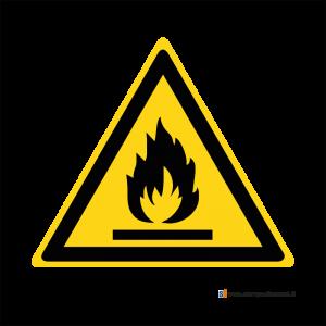Pericolo materiale infiammabile - Bordo Macchina