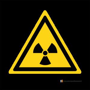 Pericolo materiale radioattivo o radiazioni ionizzanti - Bordo Macchina