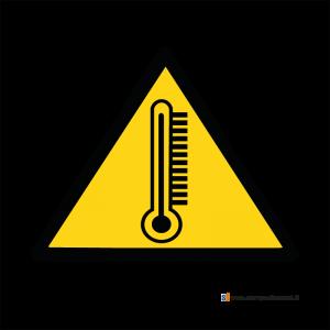 Pericolo alta temperatura - Bordo Macchina
