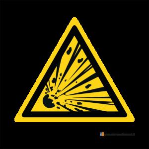 Pericolo materiale esplosivo - Bordo Macchina