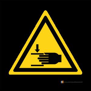 Pericolo di schiacciamento mani - Bordo Macchina