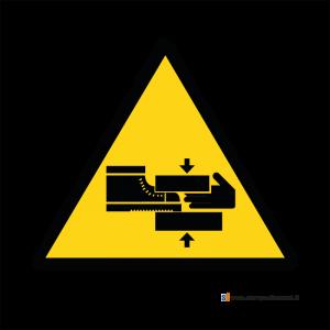 Pericolo di schiacciamento mani o piedi - Bordo Macchina