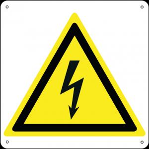 Pericolo elettricità quadrato