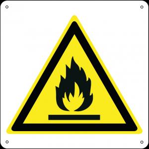 Pericolo materiale infiammabile quadrato