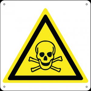 Pericolo materiale tossico quadrato
