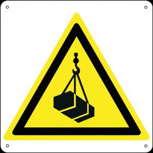 Pericolo carichi sospesi quadrato