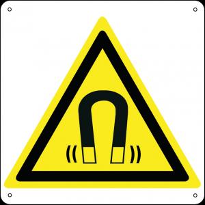 Pericolo campo magnetico quadrato