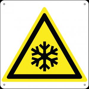 Pericolo bassa temperatura - Condizioni di congelamento quadrato