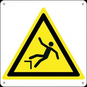 Pericolo caduta con dislivello quadrato