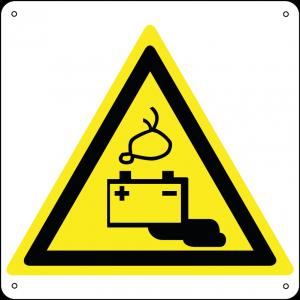 Pericolo batterie in fase di carica quadrato