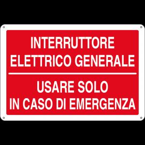 Interruttore elettrico generale - Usare solo in caso di emergenza