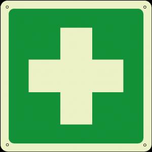 Primo soccorso quadrato luminescente