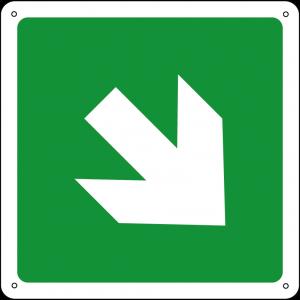 Freccia 45° quadrato