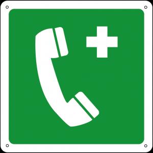 Telefono di emergenza quadrato
