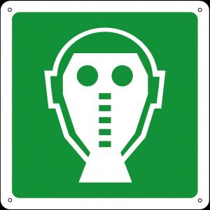 Maschera/respiratore di emergenza quadrato