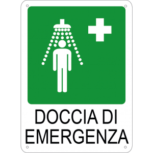 Doccia di emergenza verticale