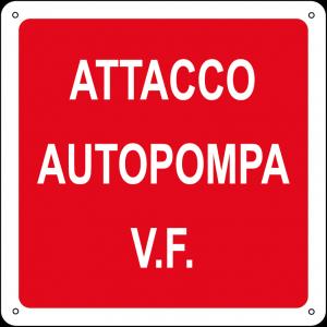 Attacco autopompa V.F. quadrato