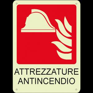 Attrezzature antincendio verticale luminescente