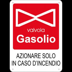 Azionare solo in caso d'incendio - Valvola gasolio verticale