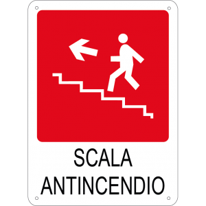 Scala antincendio verticale