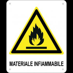 Materiale infiammabile verticale