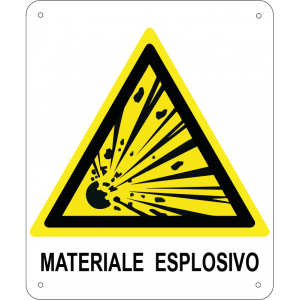Materiale esplosivo verticale