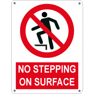 No stepping on surface