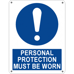 Personal protection must be worn