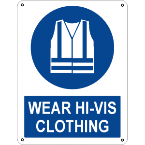 Wear hi-vis clothing