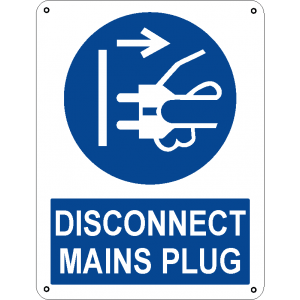 Disconnect mains plug