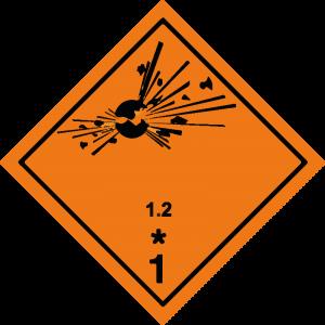 Classe 1 - Materie e oggetti esplosivi Divisione 1.2