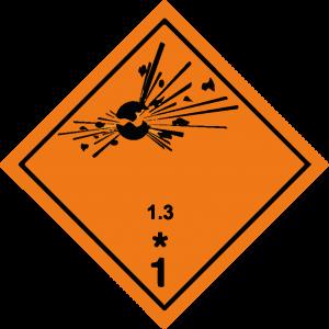 Classe 1 - Materie e oggetti esplosivi Divisione 1.3