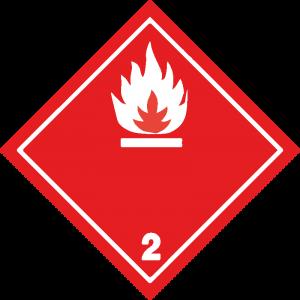 Classe 2 - Gas infiammabili - bianca