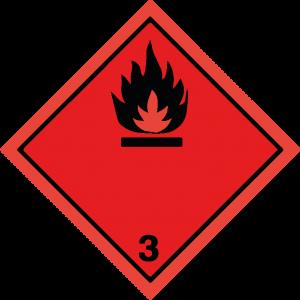 Classe 3 - Liquidi infiammabili - nera