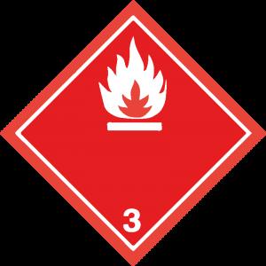 Classe 3 - Liquidi infiammabili - bianca