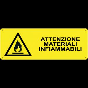 Attenzione materiali infiammabili orizzontale